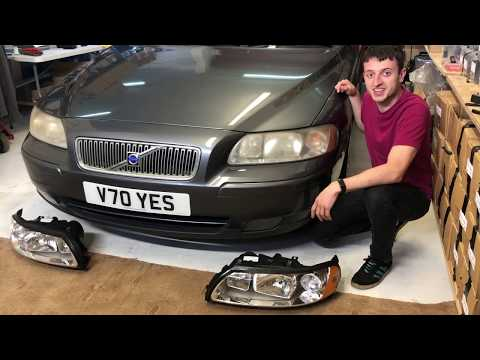 Volvo V70 MK2 Complete Headlight Replacement – How To Remove Lights and Front Bumper 00-07 V70 YES