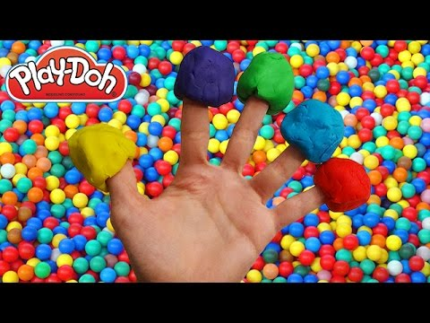 play doh finger family ball pit song for learning colors nursery rhymes for children and kids. Black Bedroom Furniture Sets. Home Design Ideas