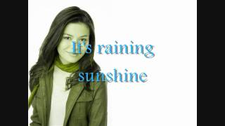 Miranda Cosgrove Raining Sunshine lyrics on the screen HD