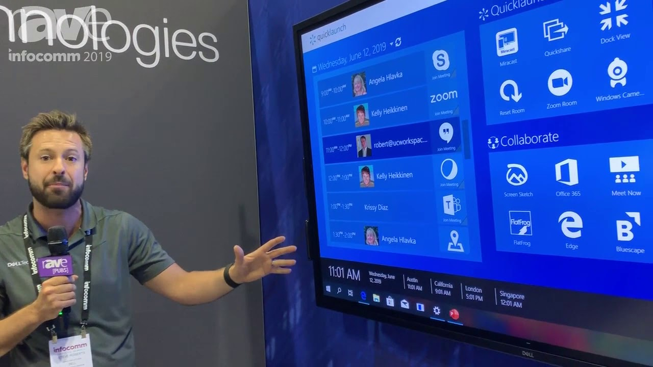 InfoComm 2019: Dell Technologies Demos C7520QT 75 4K Interactive Touch  Monitor