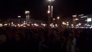 Finlandia  hymni Kuopion torilla 8.12.2015