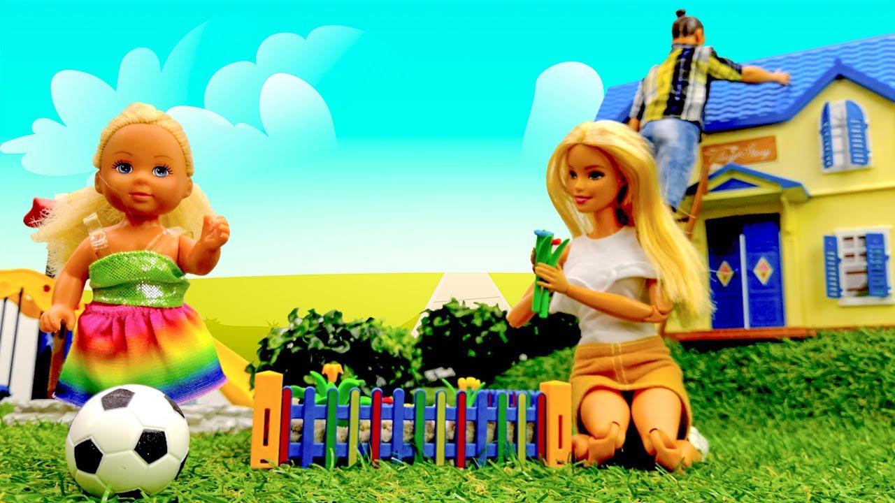 Férias com a Barbie na casa de campo! Novelinha da boneca Barbie em português