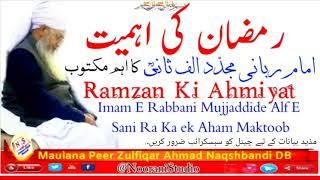 Ramdan Ki Ahmiyat  By Maulana Peer Zulfiqar Ahmad Naqshbandi