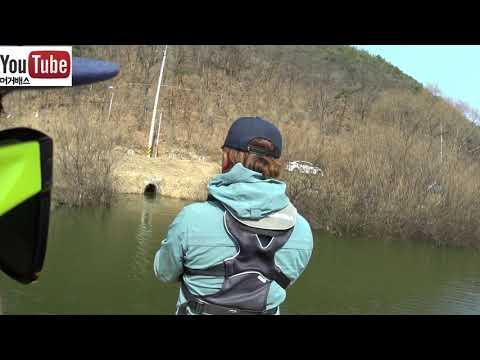 [머거배스] 충북 원남지 봄배스의 활성도는?? 원남지 봄배스 만나봅시다~ bass fishing