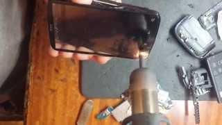 HTC Desire S  замена LCD