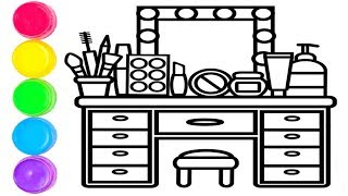 Makyaj Masası Boyama | Çocuklar İçin Boyamalar
