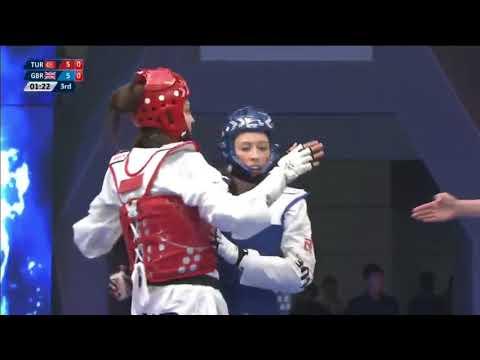 Wuxi 2018 World Taekwondo Grand Slam -57kg FEM Irem YAMAN(TUR) vs Jade JONES(GBR)