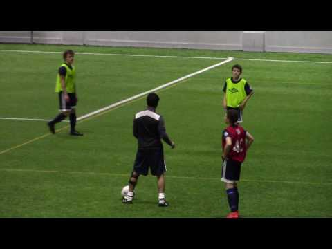 Whitecaps NS Academy Tech/Tact Block - Find player on run behind back 4 - Led by Mike Ayyash