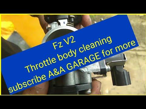 yamaha Fz V2 Throttle body cleaning