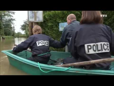 Pirates of the France: Rescue Team from the French Police during floods