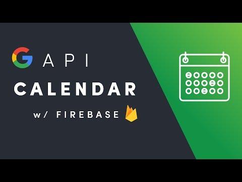 Google Calendar + Firebase Auth