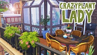 Crazy Plant Lady's Apartment || The Sims 4 Apartment Renovation: Speed Build