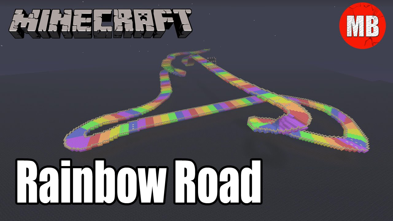 Minecraft Rainbow Road Mario Kart 64 Map