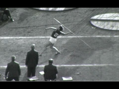 Helsinki 1952 [Dana Zátopková] Javelin Throw (Amateur Footage)