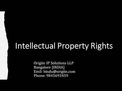 Intellectual Property Rights-An introduction