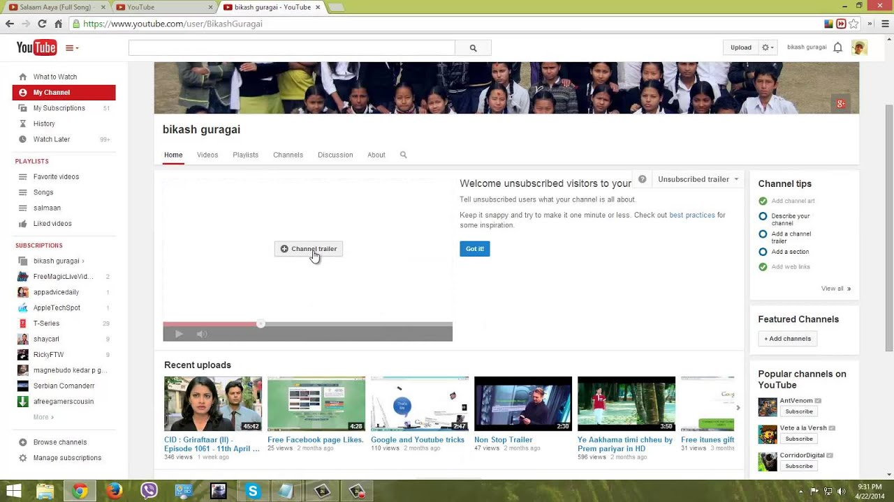 How To Put A Video Homepage In Your Youtube Channel Youtube