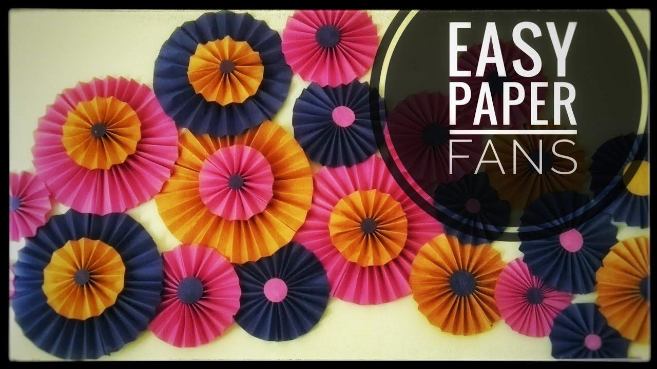 Easy Paper Fans Paper Fan Backdrop Easy Birthday