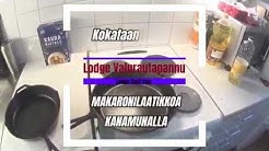 Aljis Kokkaa - Lodge Cast Iron valurautapannu ja makaronilaatikko munalla