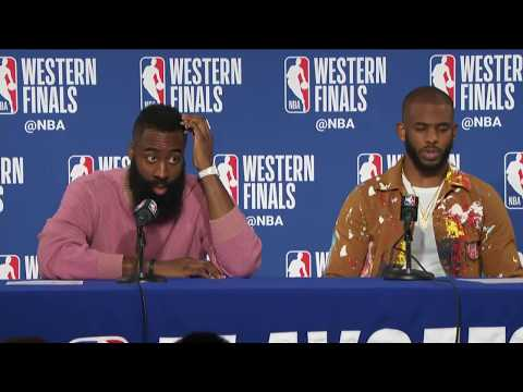 James Harden & Chris Paul Postgame Interview | Rockets vs Warriors Game 3
