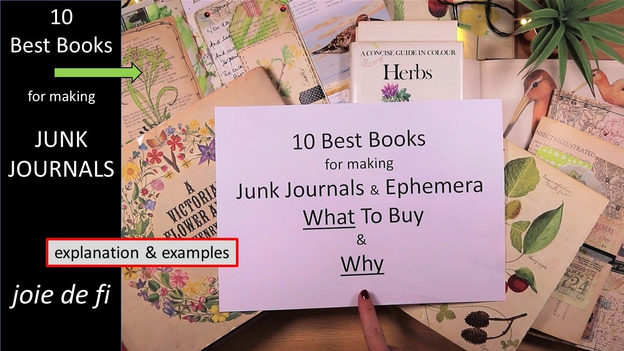 10 Best Books For Making Junk Journals ⭐ What To Buy And Why