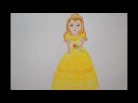 Prinzessin Zeichnen Die Schöne Malen Belle How To Draw