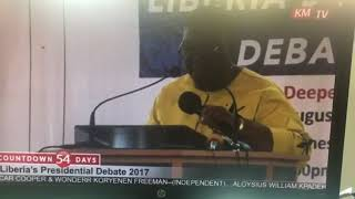 Opening Remarks by Massa Crayton at Liberia's First Presidential Debate