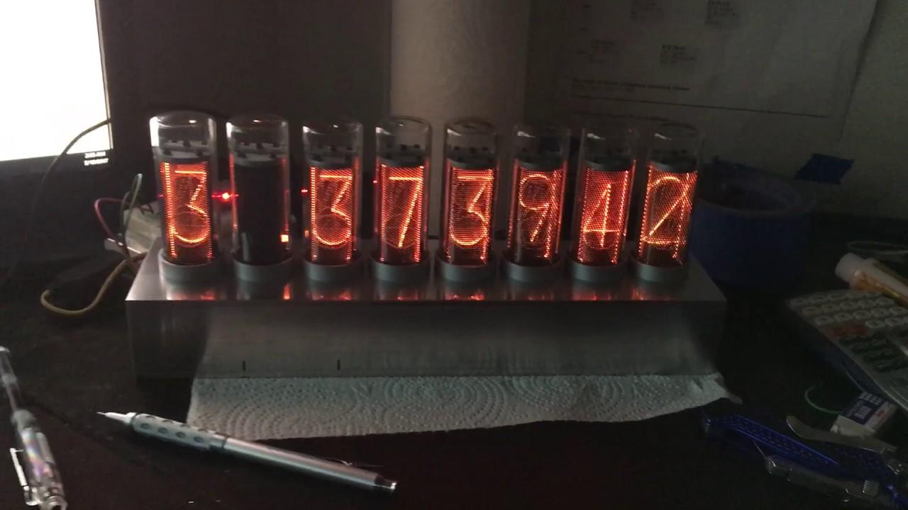 LED Nixie tube with aluminum case