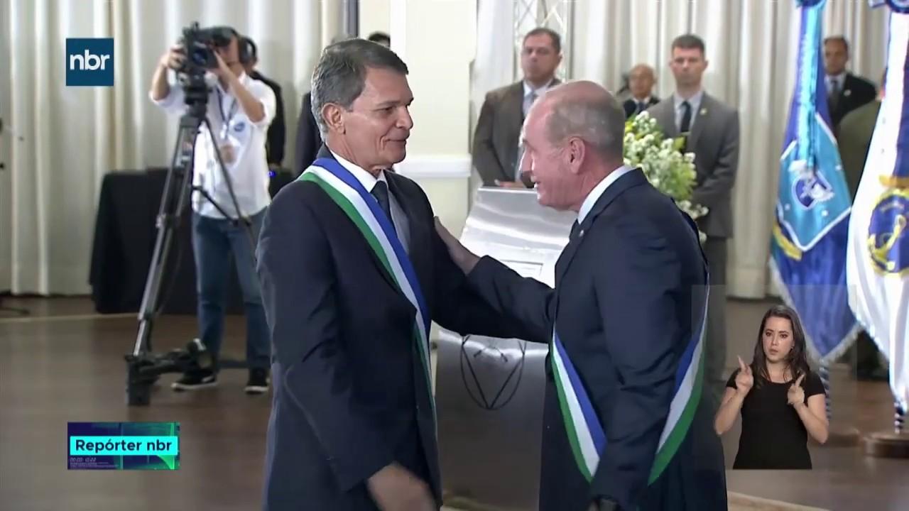 O Presidente Jair Bolsonaro foi recebido na Cerimônia com honras militares