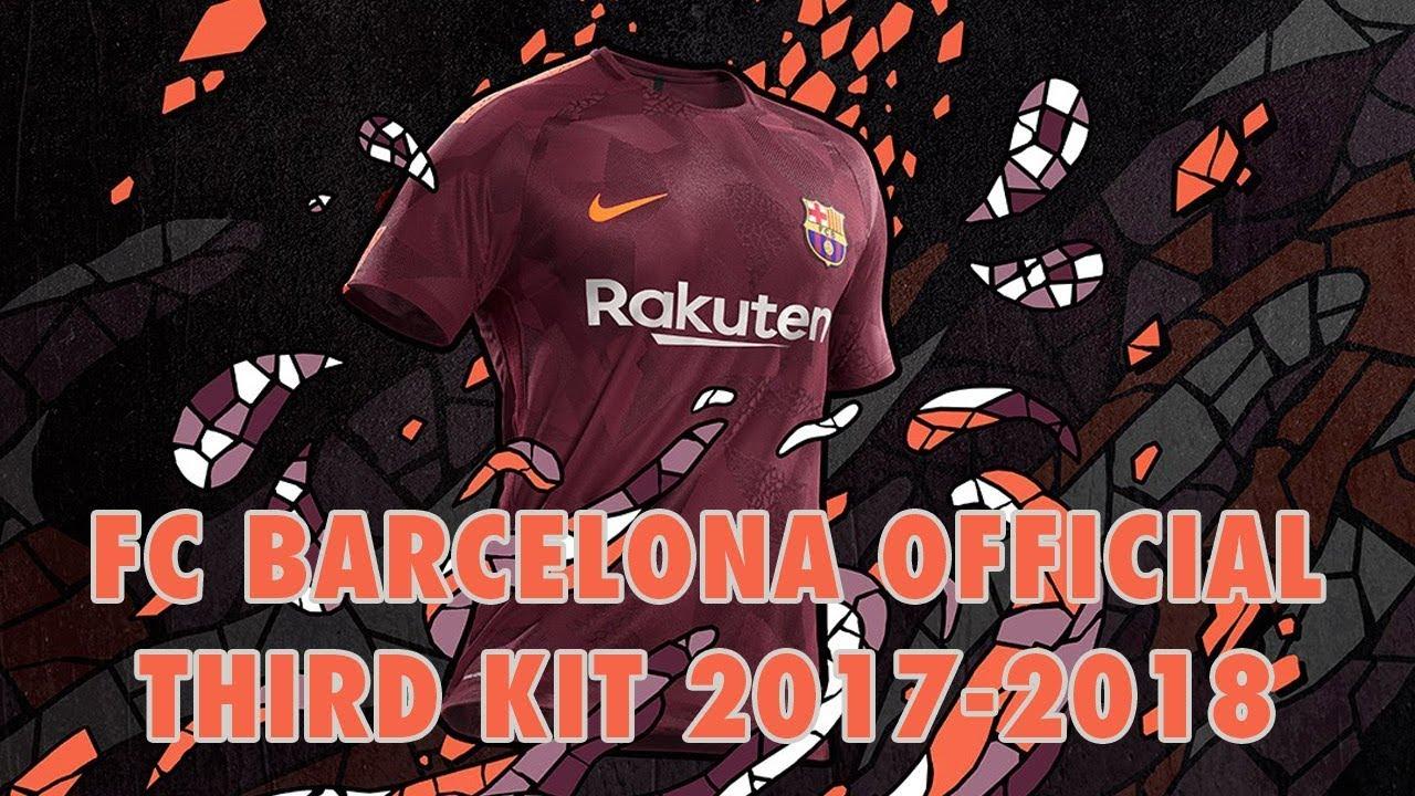 best website d5e48 5be0b FC Barcelona Official Third Kit 2017-2018