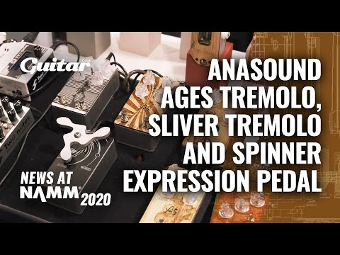 Anasounds' Tremolo Is Controlled By An Expression Pedal Inspired By Fidget Spinners #NAMM2020