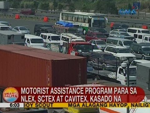 Motorist assistance program para sa NLEX, SCTEX at Cavitex, kasado na