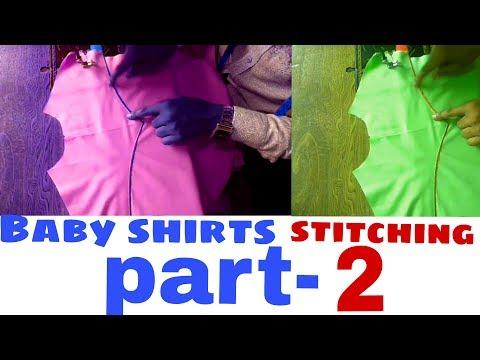Baby shirt/ dress cutting & stitching full video / DIY/ in Hindi (part-2)