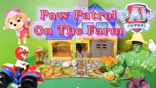PAW PATROL Nickelodeon Paw Patrol Helps Incredible Hulk Farm a Paw Patrol YouTube Video Parody
