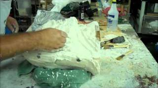 Making a two part mold 2
