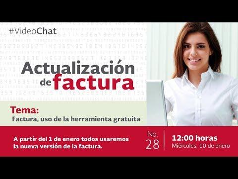Video chat No.28: Factura, uso de la herramienta gratuita