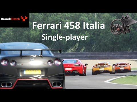 Assetto Corsa Brands Hatch Ferrari 458 Italia (Single-player)