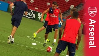 The best of training in Singapore | Laurent Koscielny has got skills!