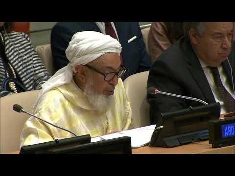 UN Secretary-General António Guterres speaking to Religious Leaders