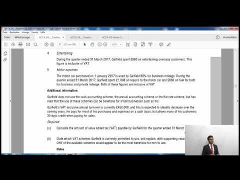 ACCA F6 UK Taxation | VAT Question | AccountancyTube.com