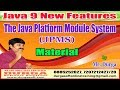 Download Java 9 New Features: The Java Platform Module System (JPMS) Material