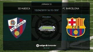 Calentamiento SD Huesca vs FC Barcelona