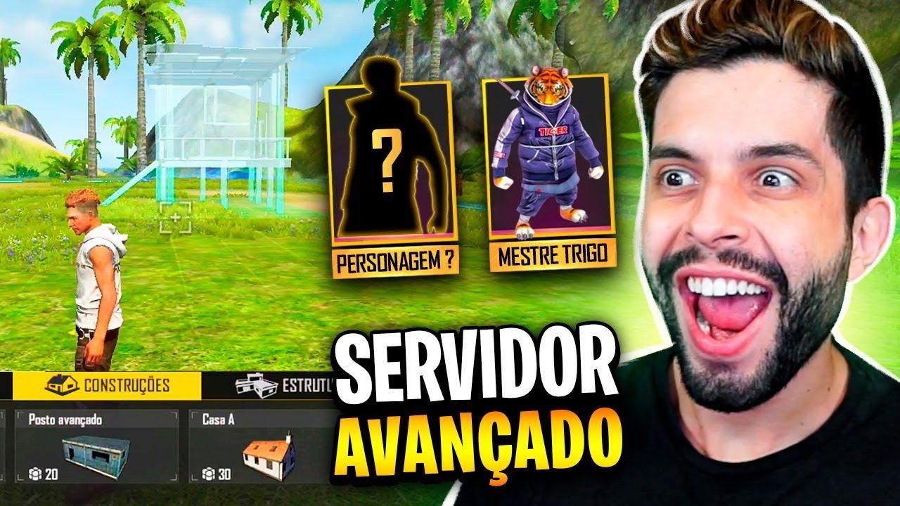 FAÇA SEU MAPA!! TESTEI O SERVIDOR AVANÇADO DO FREE FIRE!!