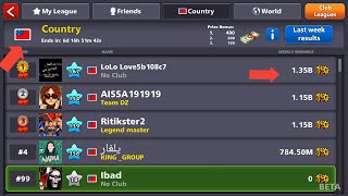 Low winning country ever in 8 Ball Pool history latest trick
