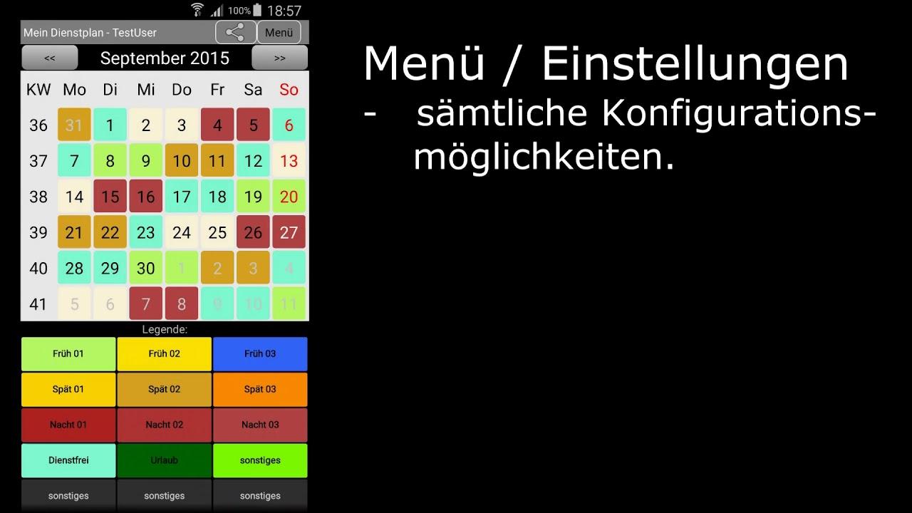 mein dienstplan android app