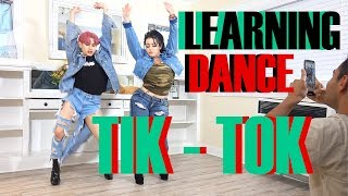LEARNING TIK TOK DANCES FOR THE FIRST TIME FT. FAMILY | @QXEDDIE