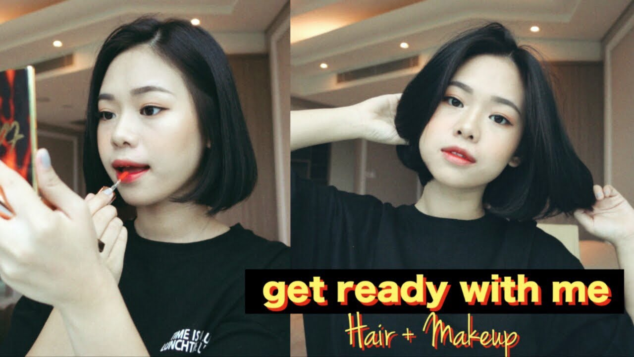 Chill Get Ready With Me Styling Short Hair Makeup Youtube