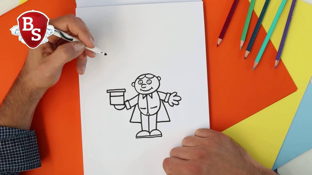 Dessine le magicien poustouflant atelier dessin le - Magicien dessin ...