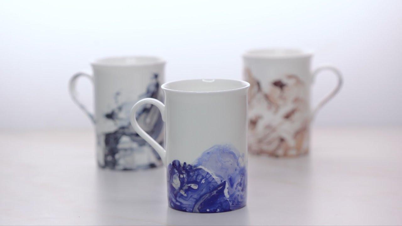 Marble Mugs Using Nail Polish - YouTube