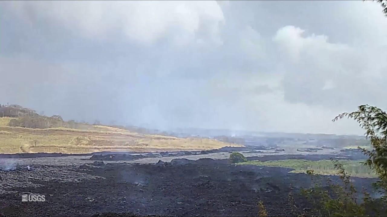 Kīlauea Volcano — Lava Boats in Fissure 8 Channel