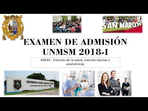 Examen de admisión San Marcos 2018-I (universidad mayor de san marcos)